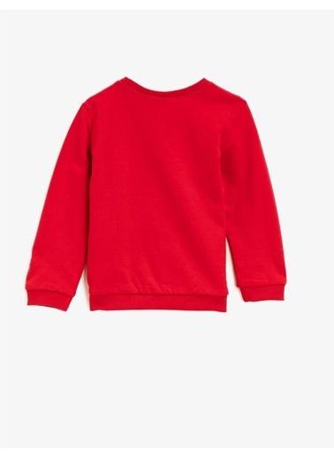 Koton Bugs Bunny Lisansli Baskili Bisiklet Yaka Pamuklu Sweatshirt Kırmızı